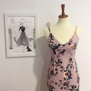 Spegetti Strap Aqua Floral Dress